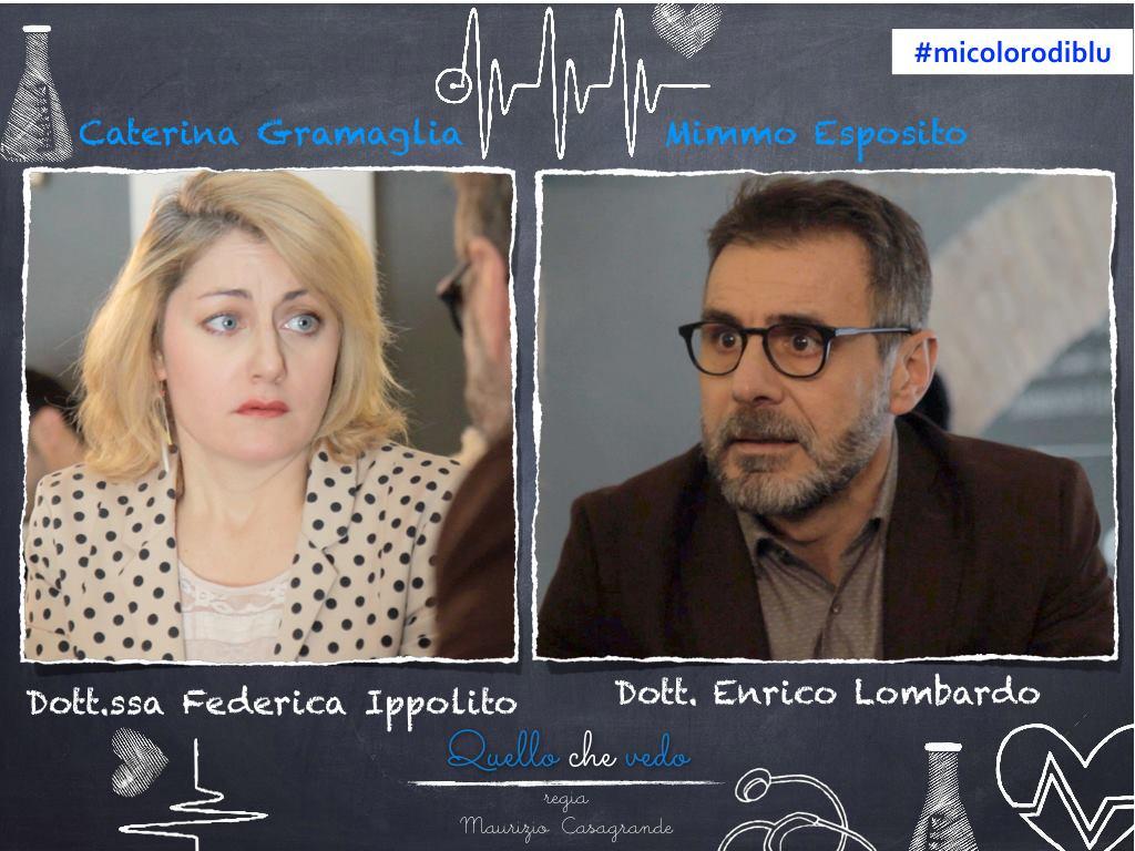 """Set di """"Quello che vedo"""". web-serie - Regia M. Casagrande, con Mimmo Esposito e Caterina Gramaglia"""